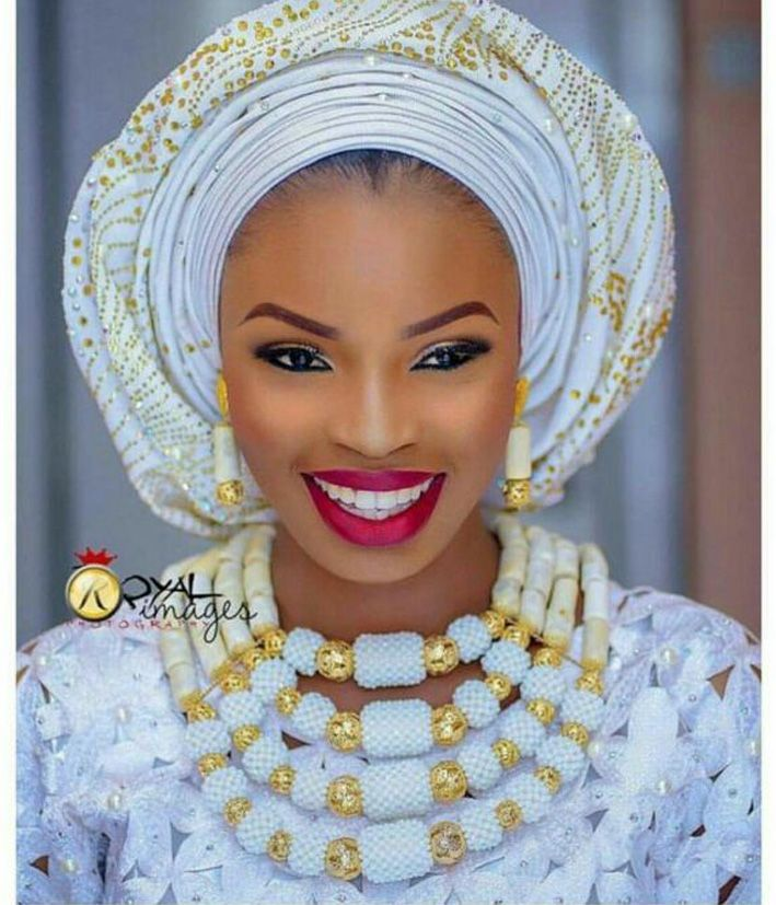 Image result for wedding beads for nigerian brides