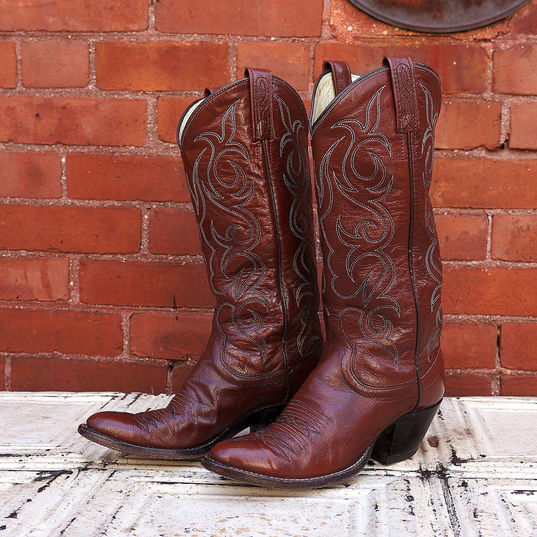 671a891b7ef Vintage Western Boots Womens 6 1960s Vintage Dan Post Black Label ...