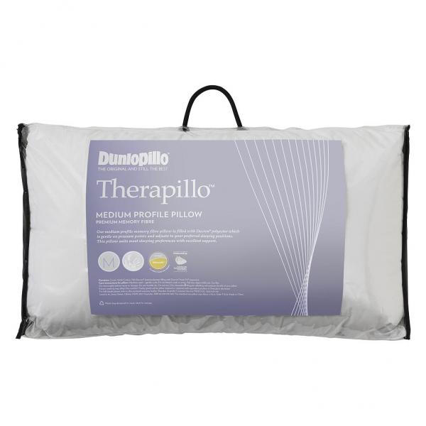 Dunlopillo Therapillo Gel Infused Memory Foam Medium Profile Pillow