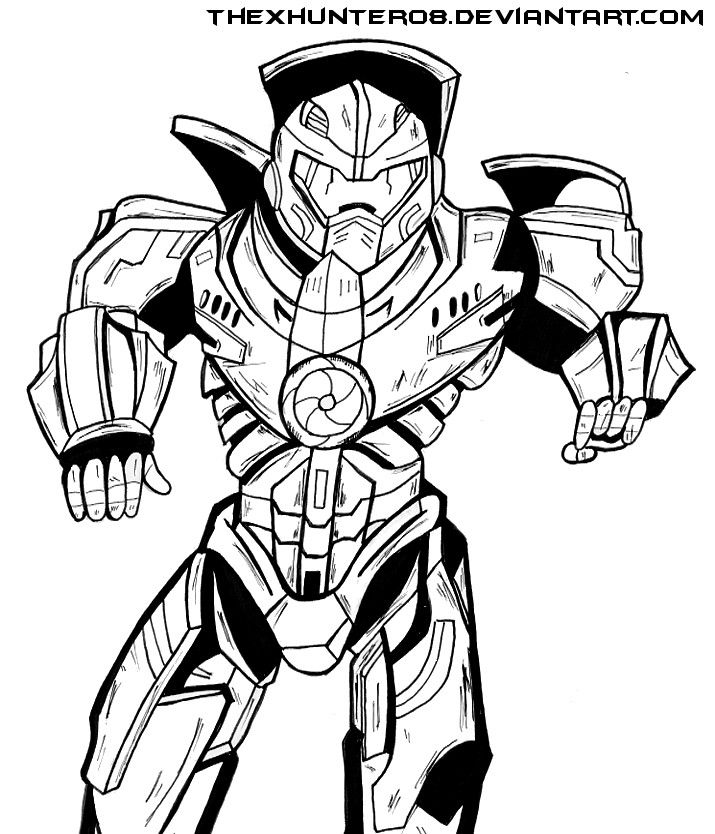 Pacific Rim: Gipsy Danger Lineart by TheXHunter08 | Pacific Rim ...