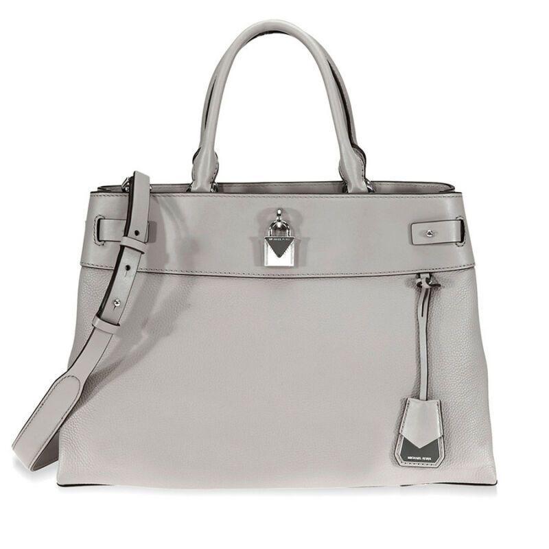 279f9408f1d56 US $231.40-Michael Kors Gramercy Large Pebbled Leather Satchel - Pearl Grey  30S8SG7S3L-081