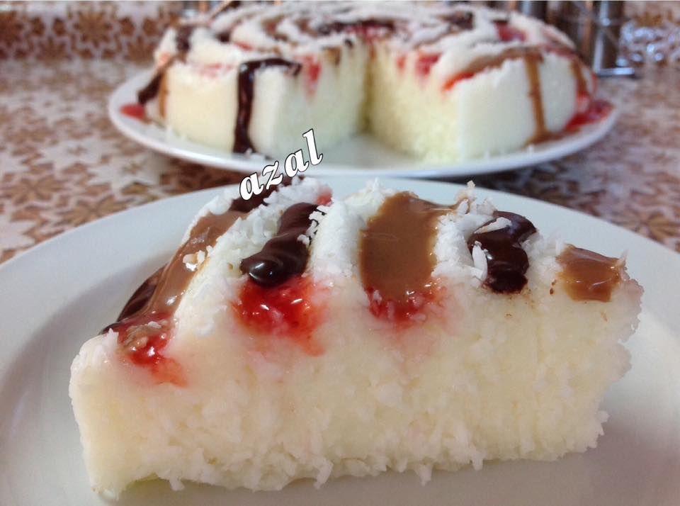 كيكة بياض الثلج الطعم فوق الوصف زاكي Desserts Food Arabic Dessert