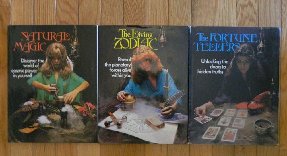 Lot 3 Black Watch Books Natural Magic - The Living Zodiac - The Fortune Teller
