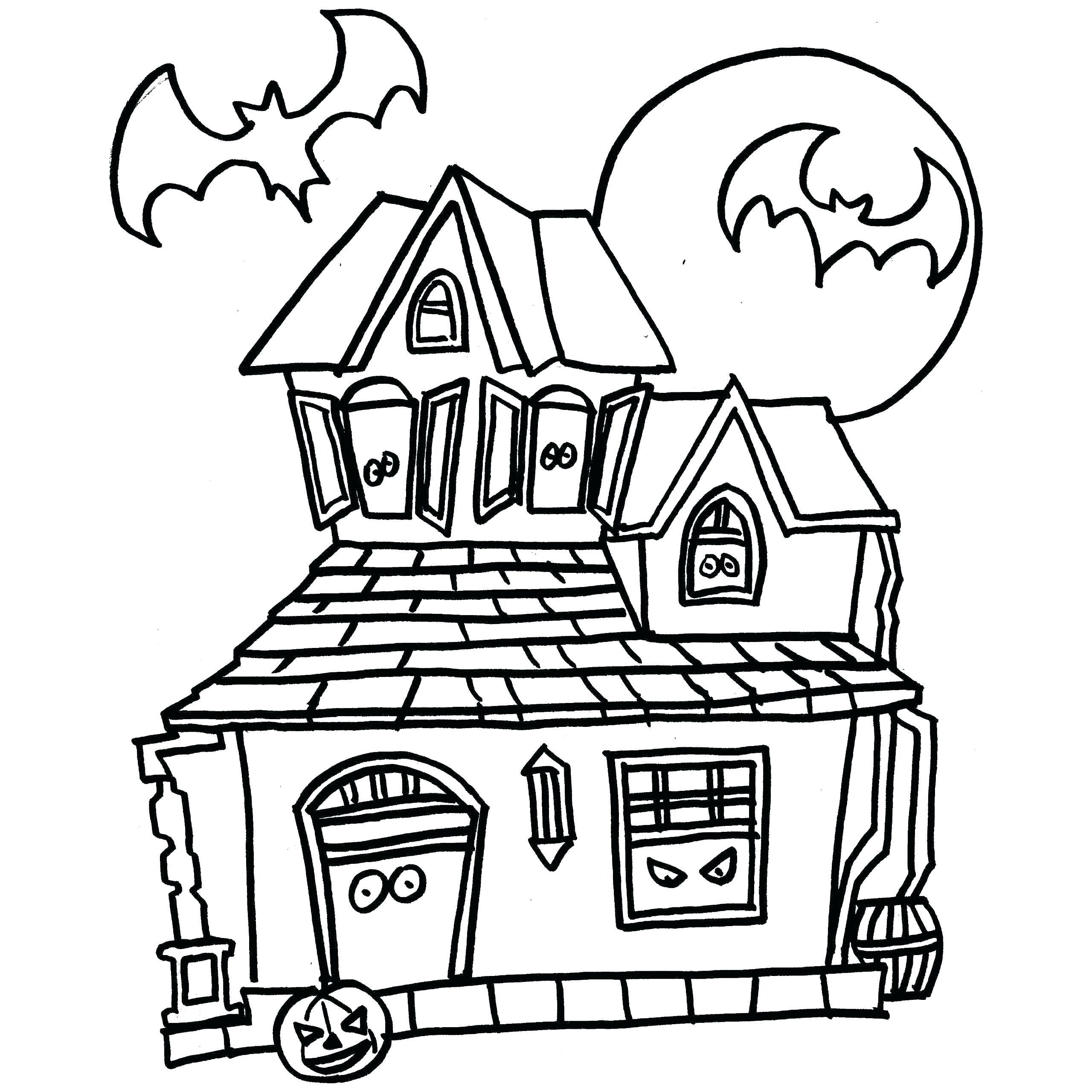 Haunted House Coloring Pages Luxury Square Coloring Page