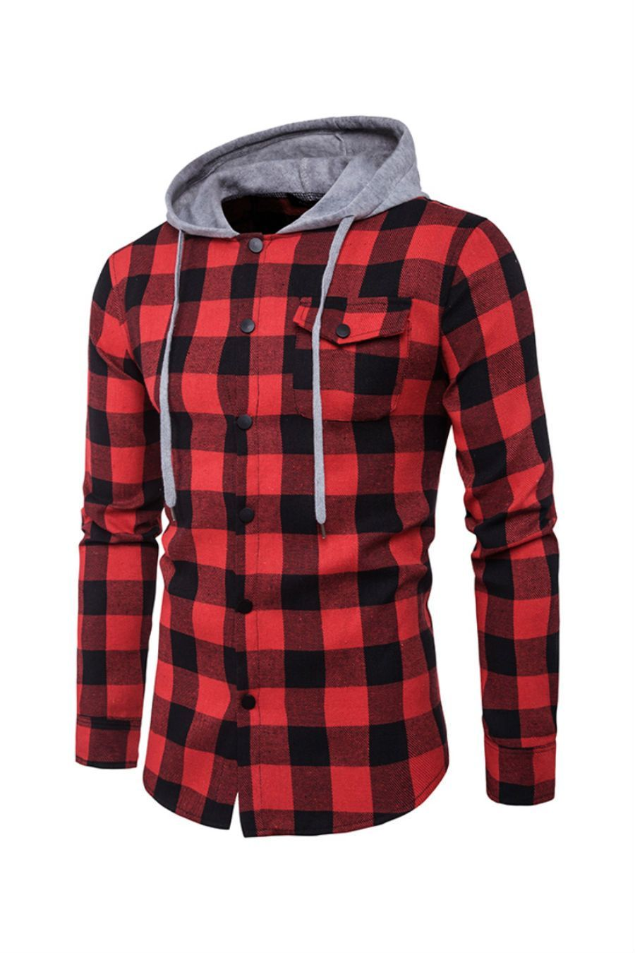 Rsq Midnight Hayride Mens Hooded Flannel Shirt Cream 379243151 Hooded Flannel Mens Flannel Jacket Shirts [ 1286 x 1000 Pixel ]