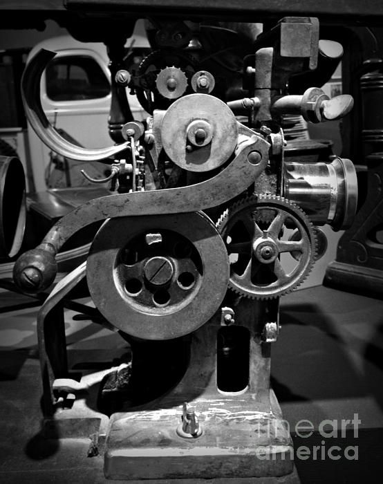 Film Projector BW Photograph- Chalet Roome-Rigdon