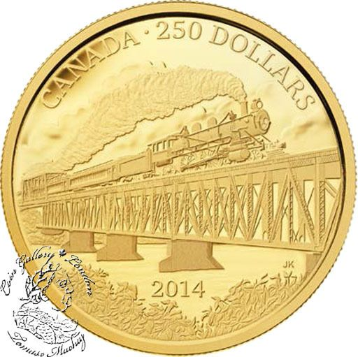 Coin Gallery London Store - Canada: 2014 $250 100th Anniversary of the Completion of The Grand Trunk Pacific Railway Gold Coin