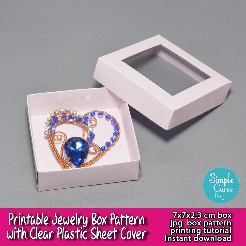 Printable Jewelry Box Pattern Clear Plastic Sheet Packaging Ready To ...