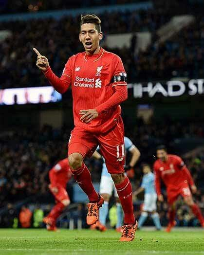 Firmino after scored