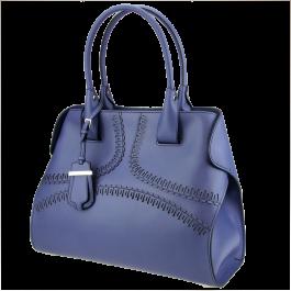 Tod's cape bag in indigo blue.