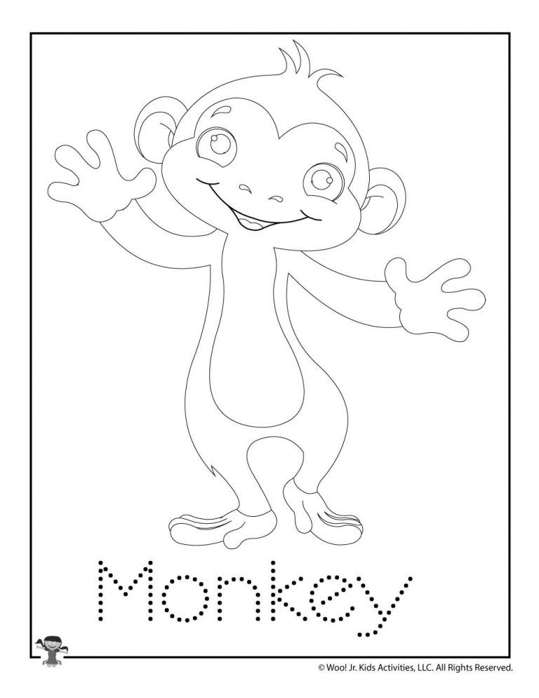 M is for Monkey Word Tracing in 2020 Activities for kids