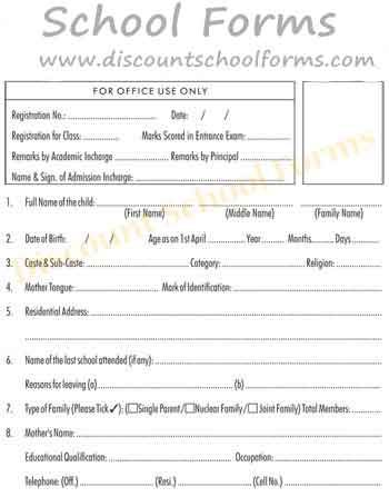 We offers widest ranges of #School #Forms, Late pass, Graduation - admission form school