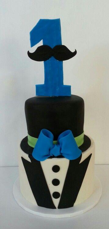 Mr. Mustache 1st birthday cake. Www.facebook.com/clairescutecakes