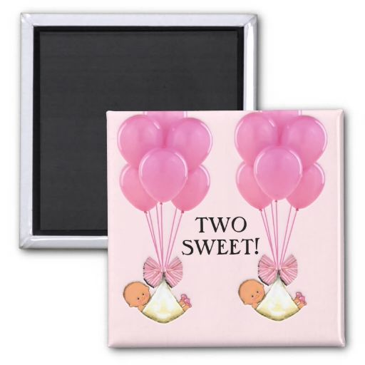 Baby Shower Twins Magnet Twins Baby Shower Magnets Pinterest