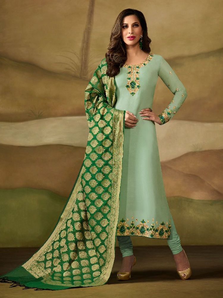 453bdfc0e4 #Designer #indian #ethnic #Party wear #embroidery #semi stitched #Salwar  Suit #Material #Handmade #Indian