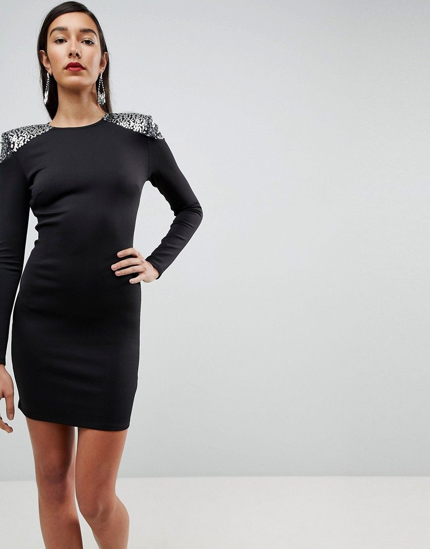 ac6289b0ea7a TALL Embellished Shoulder Bodycon Open Back Mini Dress   Products ...