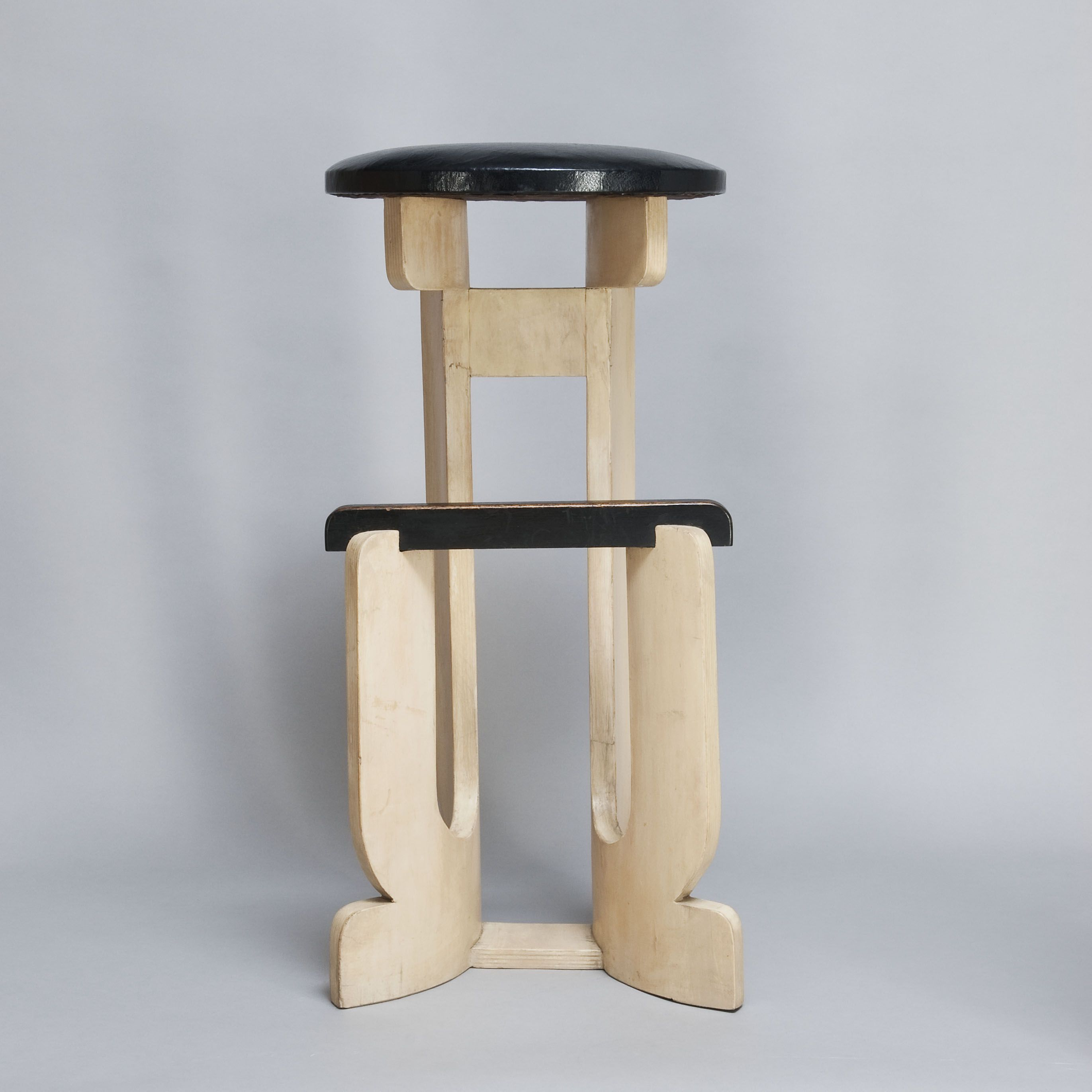 Gerald Summers Molded Birch Plywood Bar Stool 1930s