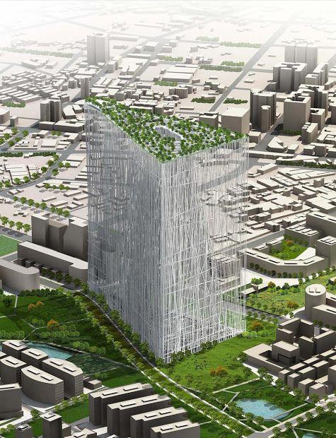 Primeiro Lugar: Taiwan Tower International Competition. Escritório Sou Fujimoto.