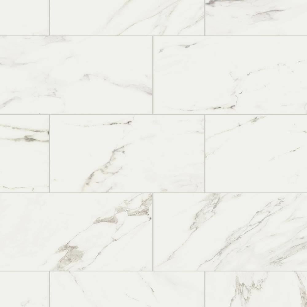 Marazzi Developed By Nature Calacatta 12 In X 24 In Glazed