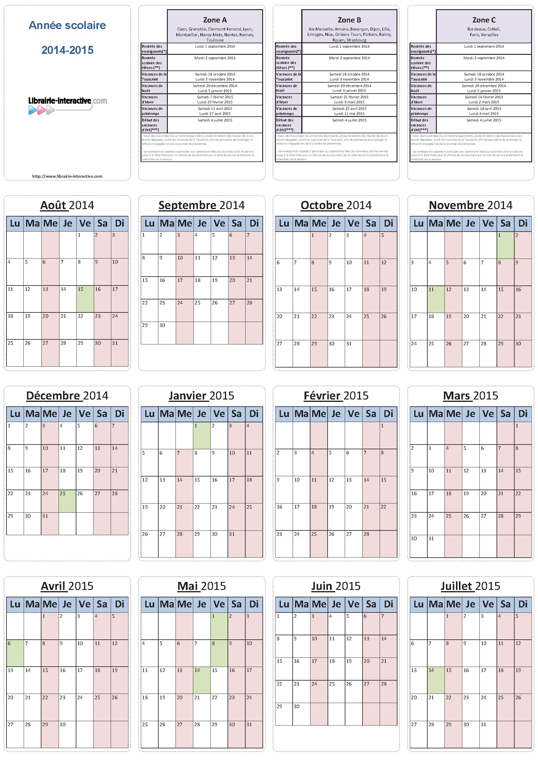 un planning individuel pour lanne scolaire 2014 2015 6 mois ou 12 - Planning Travaux Maison Individuelle