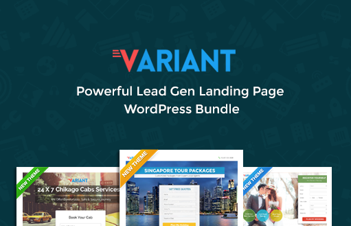 Variant Landing Page WordPress Theme Website themes