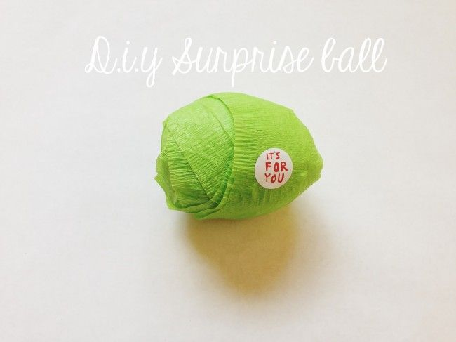 Surprise ball diy