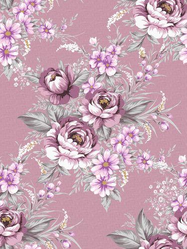 Purple Floral Print Vintage Wallpaper Vintage Floral Wallpapers Floral Wallpaper Purple Roses Wallpaper