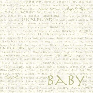 """Dinglefoot's Scrapbooking - Oh Baby Words 12"""" x 12"""" Scrapbook Paper, $0.80 (http://www.dinglefoot.com/oh-baby-words-12-x-12-scrapbook-paper/)"""
