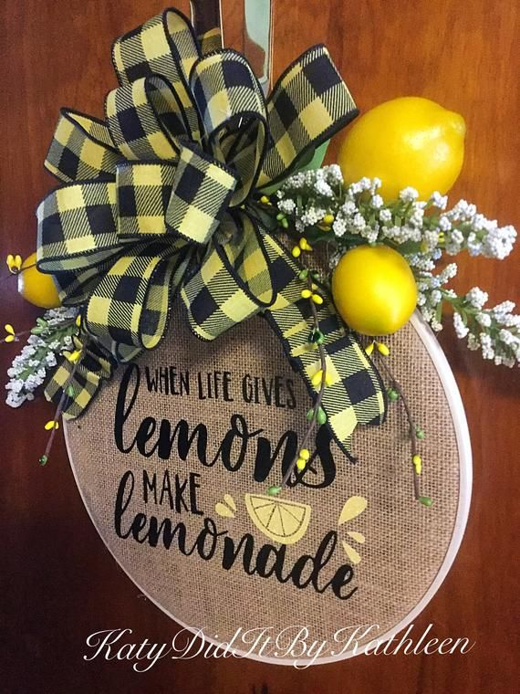 Lemon Wreath Etsy in 2020 Lemon wreath, Lemon wreath