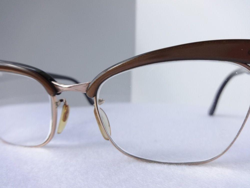 VTG EyeGlasses Rodenstock 140 German Made 12kt GF frames 60s brown ...