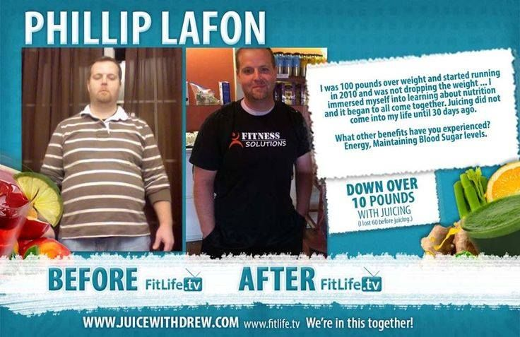 """I was 100 pounds over weight and started running in 2010 and was not dropping the weight … I immersed myself into learning about nutrition and it began to all come together. Juicing did not come into my life until 30 days ago..."" - Philip Lafon"