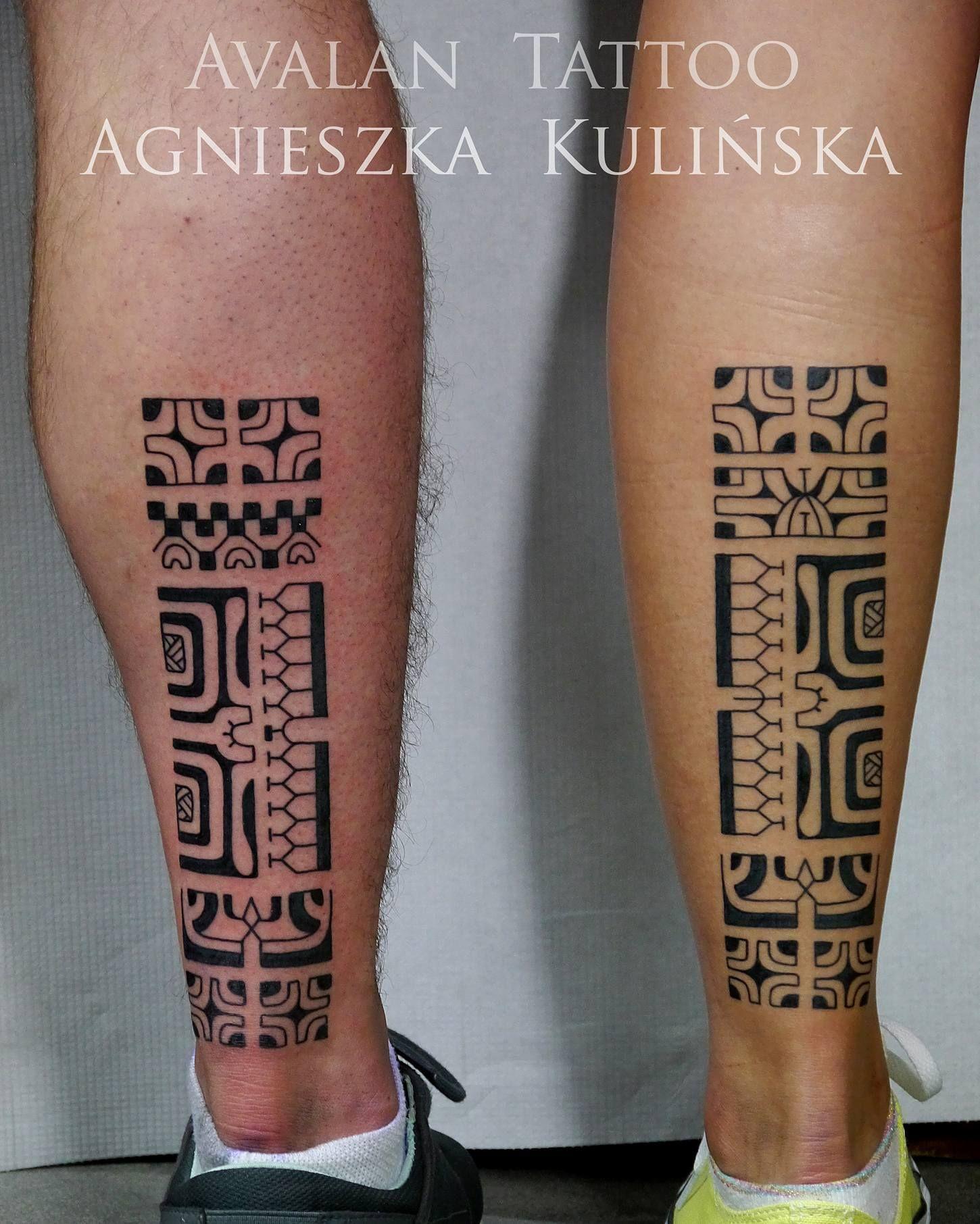 Polynesian Couple Tattoo Can Enclose Symbols Representing