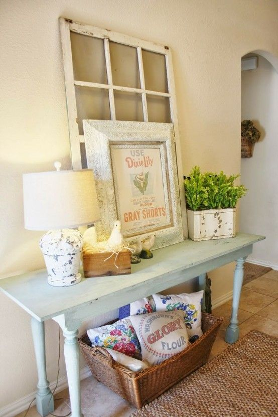 27 Cozy And Simple Farmhouse Entryway Décor Ideas | decoración ...