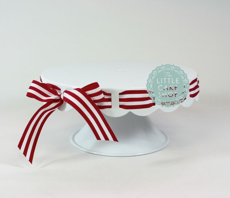 Beautiful cake stand with ribbon