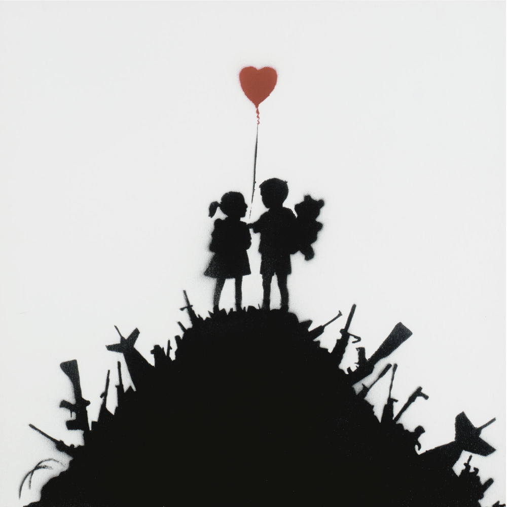 banksy kids on guns ||| contemporary art