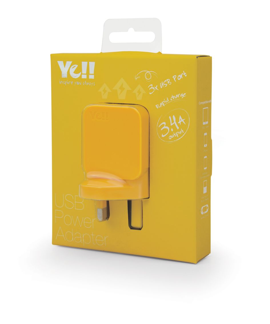 UA5343B in yellow @ Ye!! #UA5343 #USB #adapter #charger #yellow