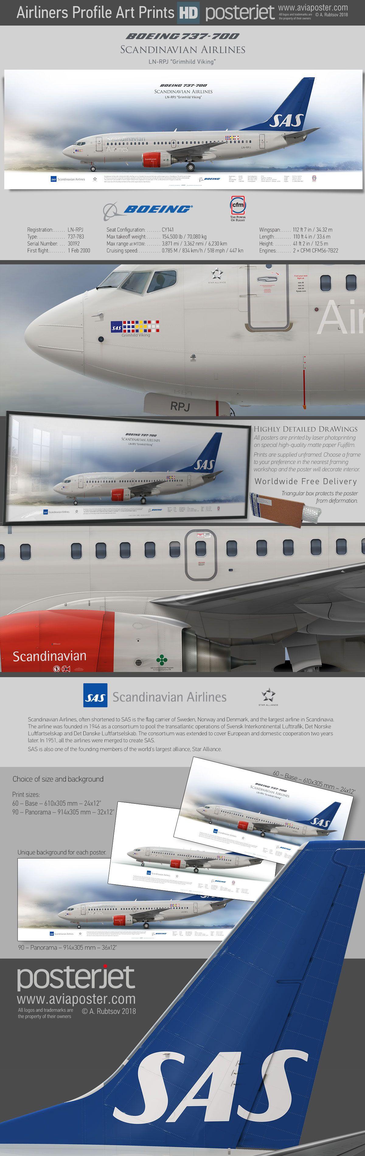 Boeing 737 700 Scandinavian Airlines Ln Rpj Www Aviaposter Com Aviation Jetliner Airplane Pilot Aviati Aviones De Combate Aviones Aviones Comerciales