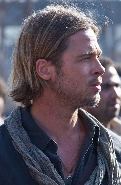 Brad Pitt World War Z Brad Pitt Brad Pitt Hair Guy Haircuts Long