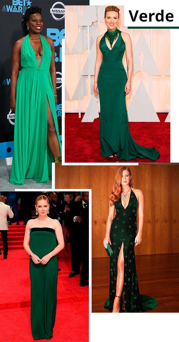 Vestido de festa preto e verde