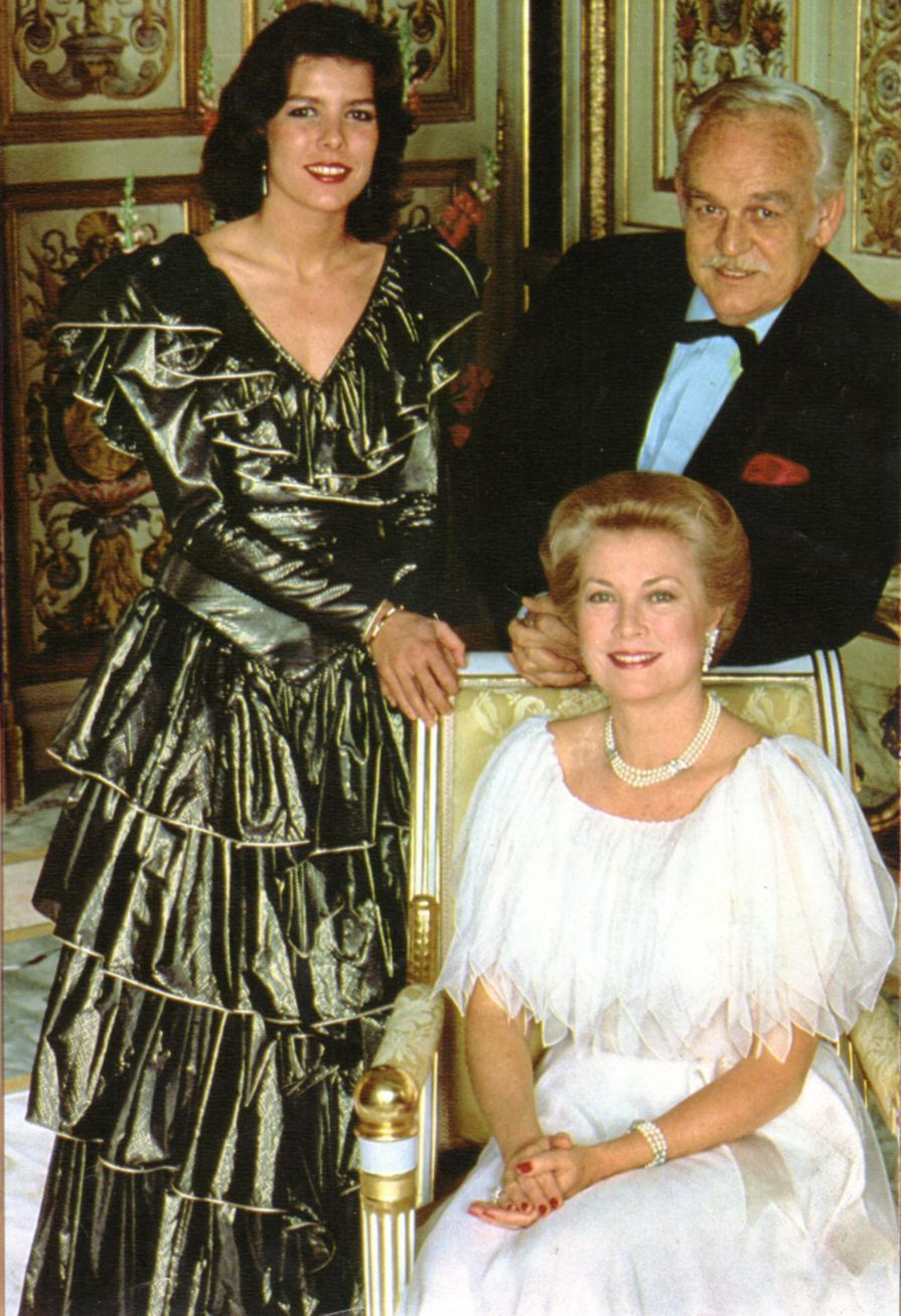 Princess Grace and Prince Rainier with their daughter