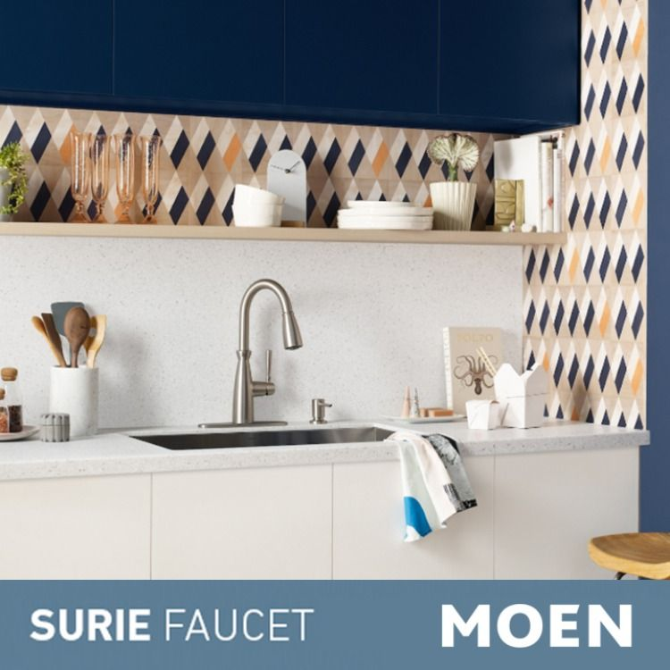 Surie Spot Resist Stainless One Handle Pulldown Kitchen Faucet With Power Boost 87395srs Kitchen Faucet Pulldown Kitchen Faucets Faucet