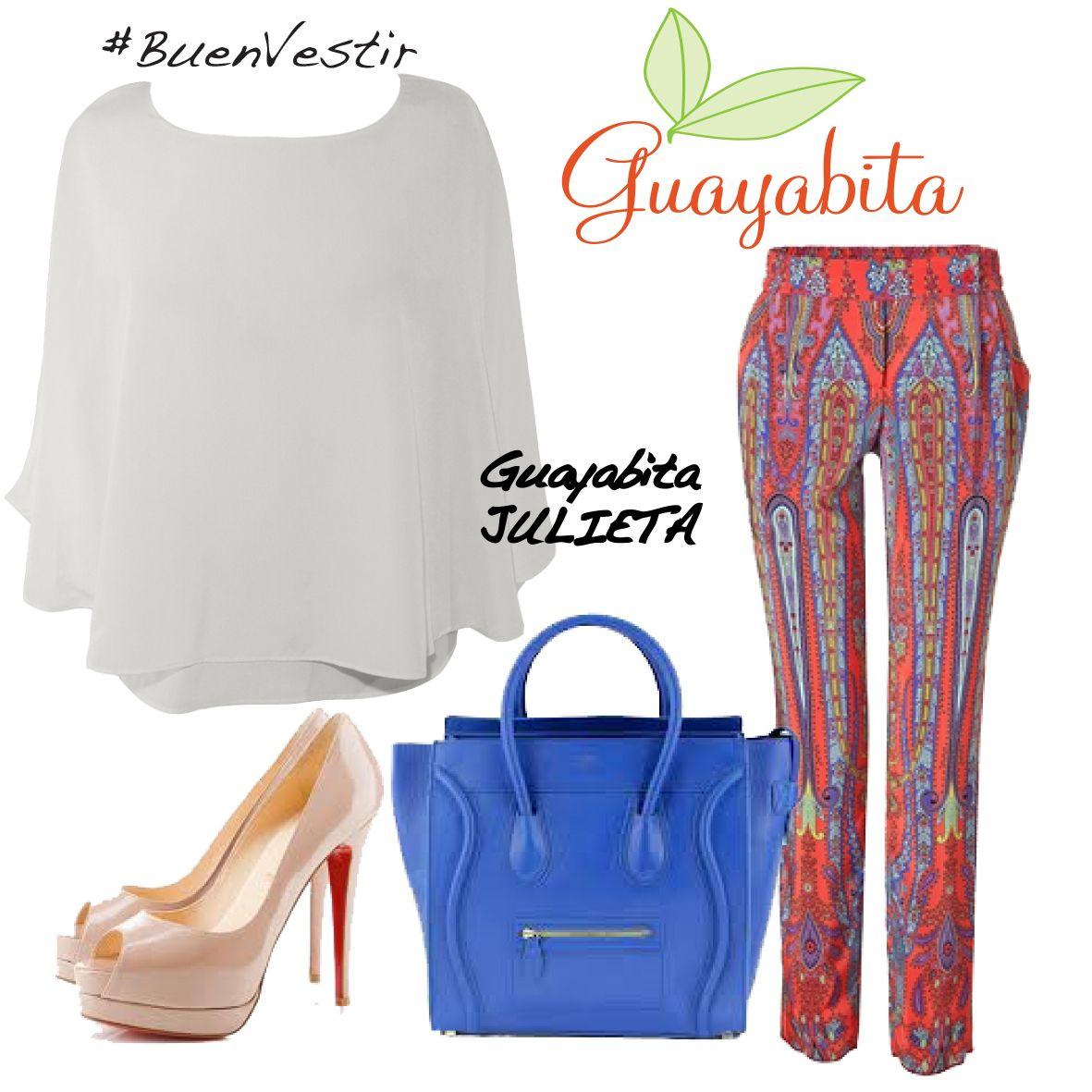 BuenVestir con nuestra camisa JULIETA!! Disponible en www.guayabita.com