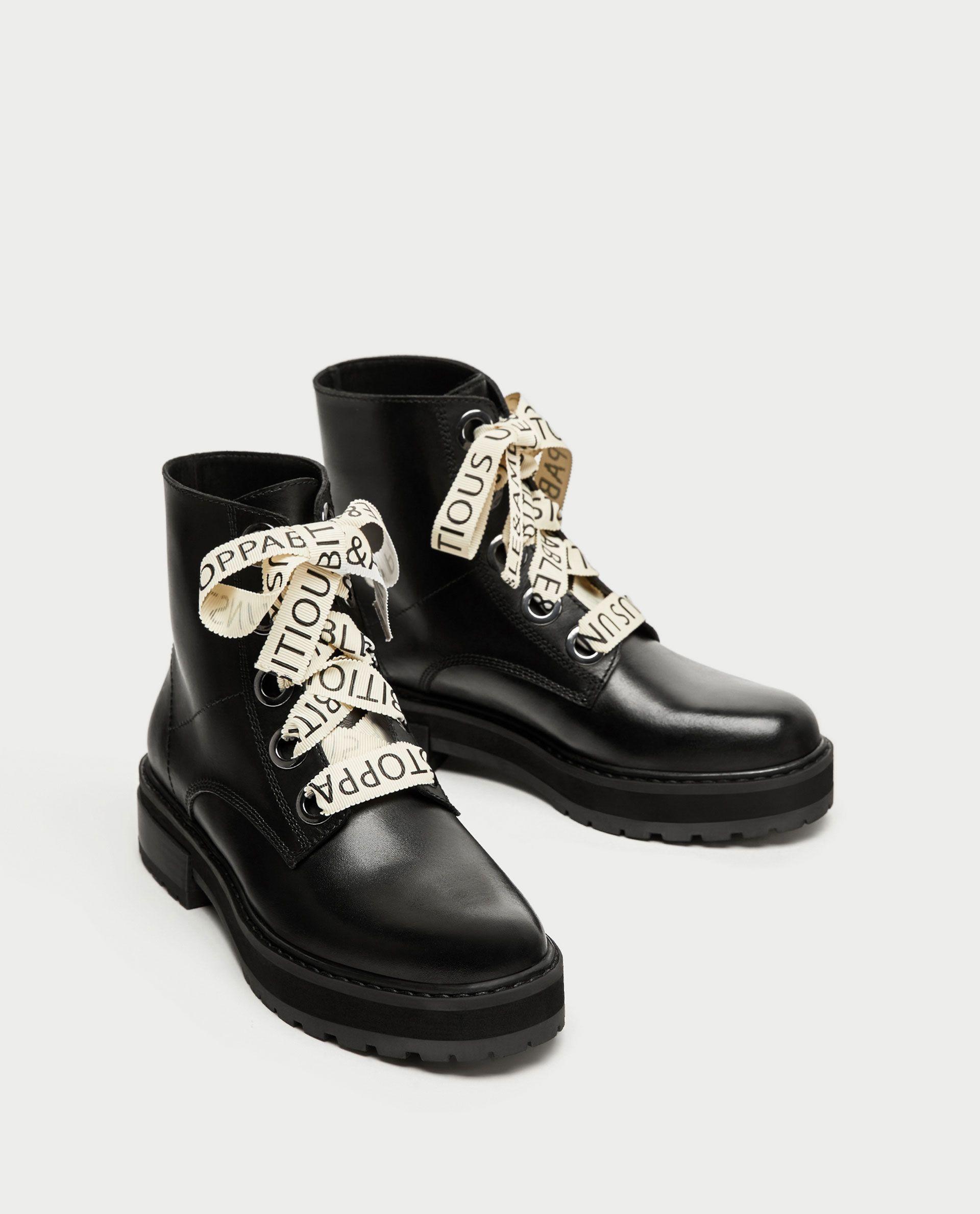 bottines noires plates cloutés cuir