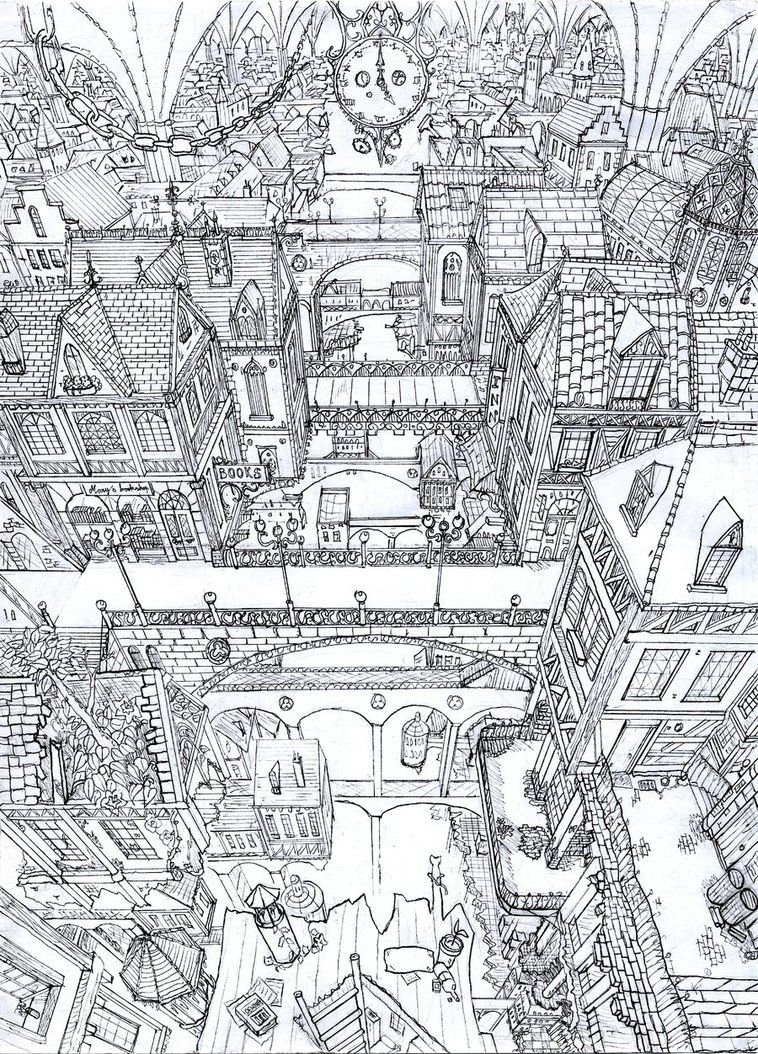 City Aerial View Cizimler 2 Pinterest Desenler Mandala Ve