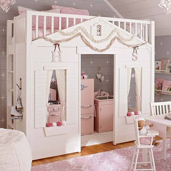 Best Princess Loft Bed Loft Princess Dollhouse Bed With Play 400 x 300
