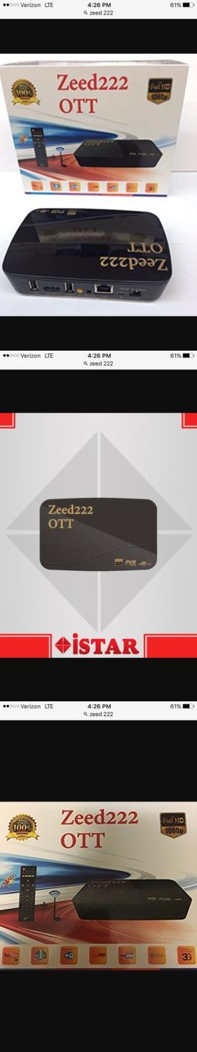 Satellite TV Receivers: Istar Korea Zeed 222 Ott Receiver- 1 Year