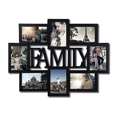 awesome Adeco 8-Opening 4x6 Black Wood Family Wall Collage Picture ...