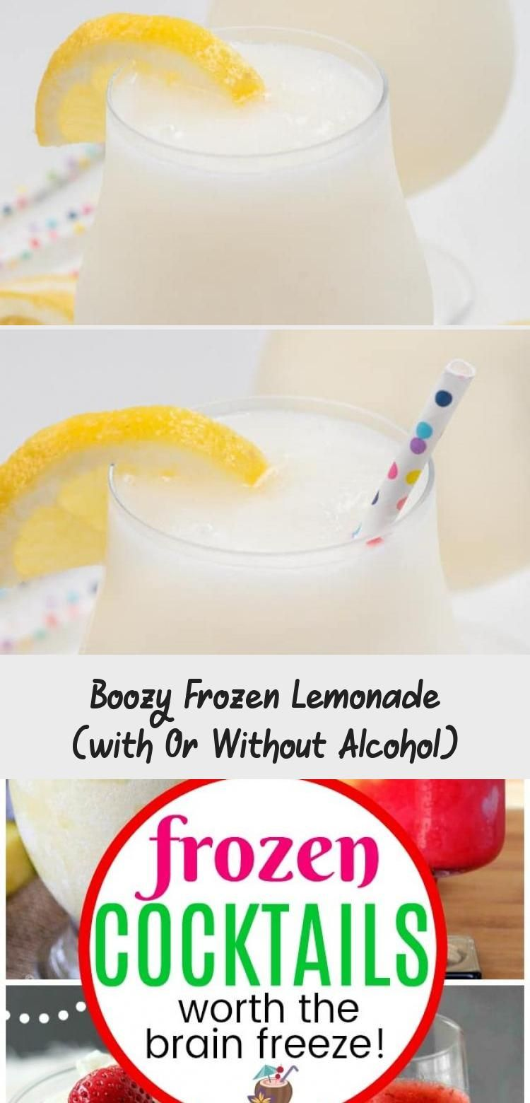 Boozy Frozen Lemonade (with Or Without Alcohol) - Recipe of The Days #frozenlemonade