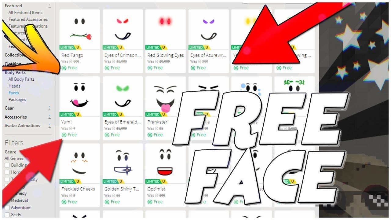 HOW TO GET FREE FACES ON ROBLOX! (2019)*WORKING* in 2020