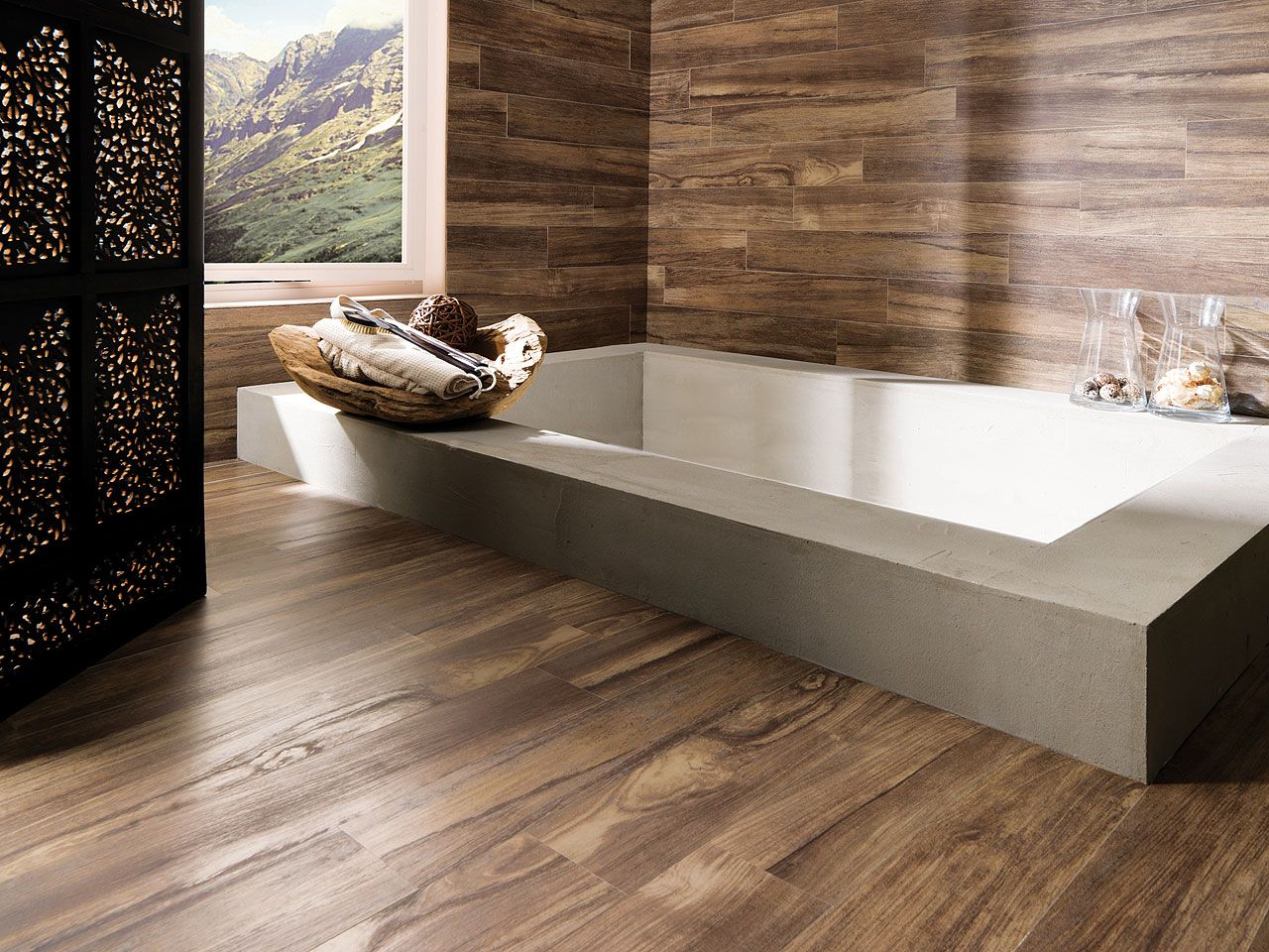 Bathroom Flooring Ceramic Parquet Is Currently A Highly Valued Option When Choosing